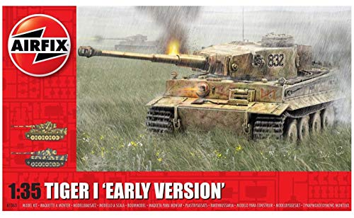 Airfix Tiger I 'Early Version' 1:35 WWII Military Tank Armor Plastic Model Kit A1363