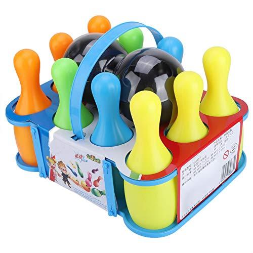 VGEBY Bola de Bolos Juguetes Coloridos de Bolos Juego de Bolos para niños 10 Pines y 2 Bolas(SS983-6(15.5CM))