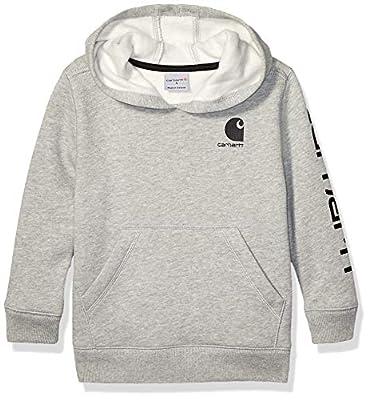 Carhartt Boys' Little Long Sleeve Sweatshirt, Grey, 6