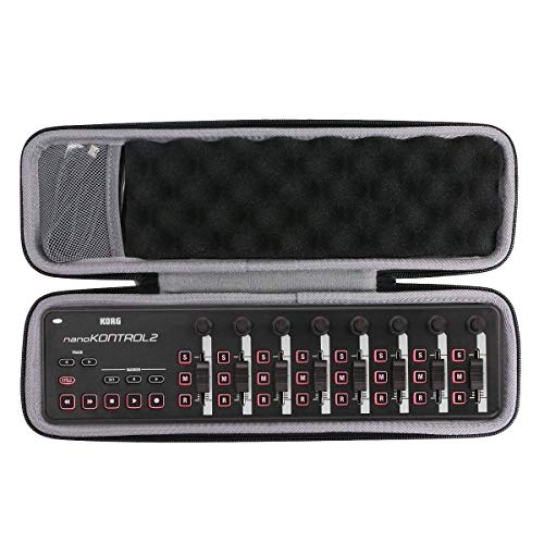 co2CREA Hart Tasche für KORG nanoKONTROL2 /nanoKEY2 /nanoPAD2 USB MIDI Controller Case Schutz-Hülle Etui Tragetasche (Nur Hülle)