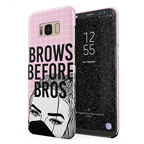 Glitbit Compatible with Samsung Galaxy S8 Plus Case Glamourholic Brows Before Bros Makeup Junkie Artist Sassy Girl for Girls Tumblr s MUA Thin Design Durable Hard Shell Plastic Protective Case Cover