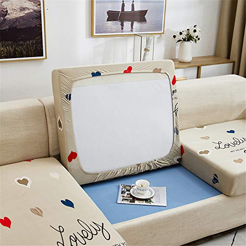 Fundas de cojín para sofá y sofá, elásticas, de repuesto para cojines individuales (Love,3 plazas)