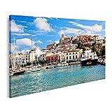 Bild Bilder auf Leinwand Panorama der Altstadt von Ibiza