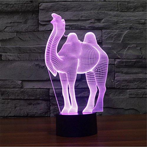 ZHIYUAN Contact Création lumière/lampe/led vision éconergétiques avec veilleuse 3D couleur camel