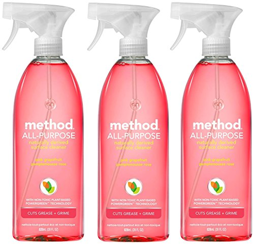 Method All Purpose Natural Surface Cleaning Spray - Pink Grapefruit - 28 Fl Oz (Pack of 3)