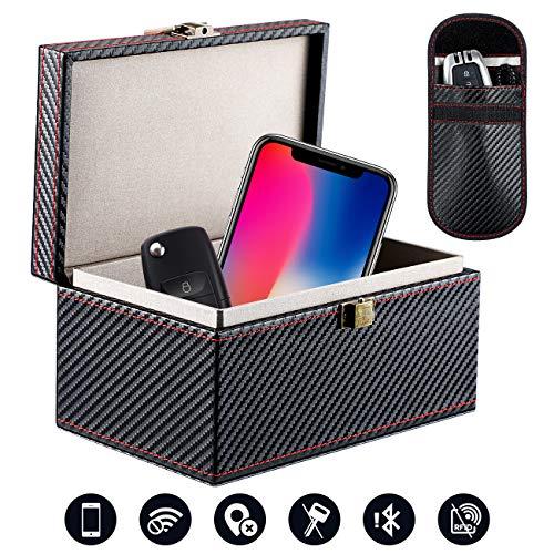 Homealexa Keyless Go Schutz Autoschlüssel Box, RFID Signal Blocker Box für Autoschlüssel Funkschlüssel Abschirmung Diebstahlschutz Strahlenschutz