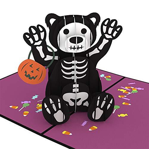 Lovepop Halloween Bear Pop Up Card - 3D Card, Halloween Cards, Pop Up Halloween Card, Bear Greeting Card, Halloween Card for Kids