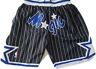 Orlando Magic Men Basketball Swingman Shorts, Retro Vintage Old school NBA 90s Gear, Casual, Embroidery, Classic Lebron Ja...