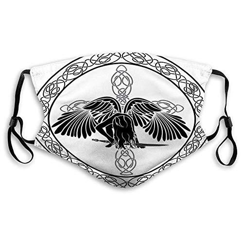 Mundgesichter Celtic Angel Heller Schutzschal Mit Filter