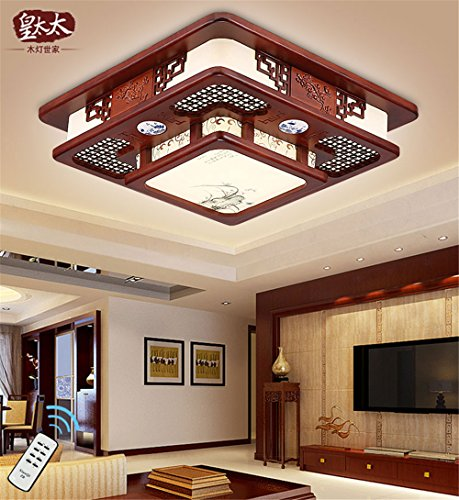 BRIGHTLLT Neue chinesische Decke lampe leuchtet Emulation retro Holz Kunst Qualität China Wind das Esszimmer, Schlafzimmer, 470 mm Einhaltung der Lampen