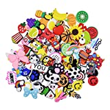 XHAOYEAHX 40,60,110,150pcs Shoes Charms Fits for Croc Clog Shoes Wristband Bracelet Party Girls Boys Gifts (Fixed Designs 100pcs)