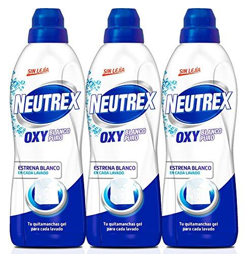 Pack de 3 Neutrex Quitamanchas Gel Oxy Blanco Puro Botella 8