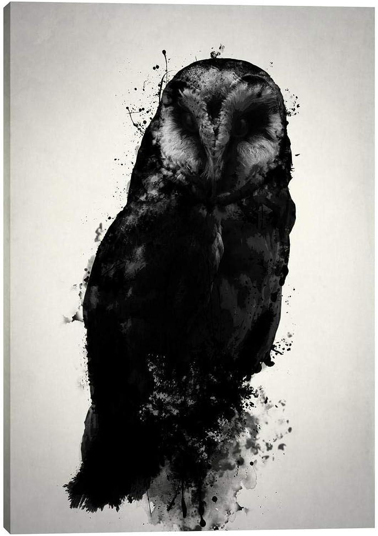 Epic Graffiti The The Owl Giclee Canvas Wall Art by Nicklas Gustafsson, 12  x 18 , Black