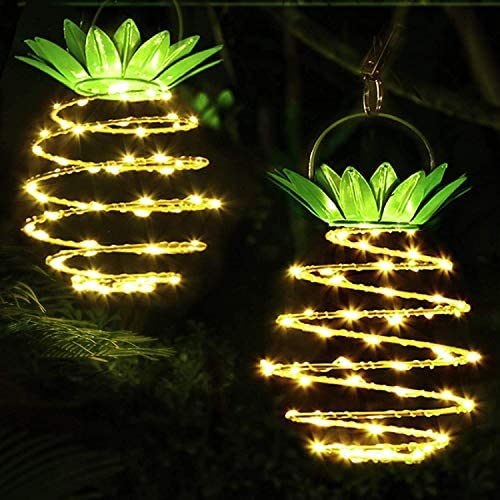 Solar Decorative lamp Solar Pineapple lamp Decorative Hanging Pineapple Lights 60 LED Waterproof product image