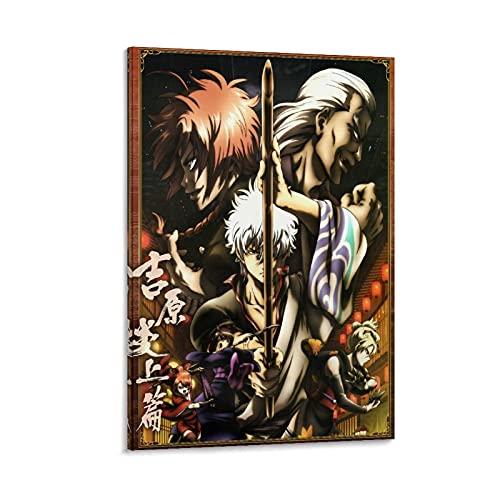 HJGHJ Póster de Gintama Matsudaira Katakuriko, Sakata Gintoki, Yoshida Shouyou en lienzo y arte para pared, diseño moderno de dormitorio familiar de 20 x 30 cm