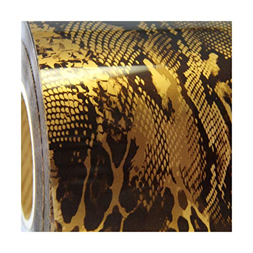 Metallic Foil Snake Pattern Heat Transfer Vinyl Film HTV | Two (2) 15x 20 sheets | Solids, Glitter, Flock, Holographic, Metallics | Compatible with Cricut, Silhouette Cameo & other Vinyl Cutters