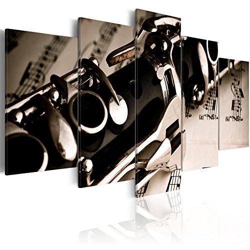 murando Cuadro Acústico Musica 200x100 cm XXL Impresión Artística 5 Piezas Lienzo de Tejido no Tejido Estampado Decoración de Pared Aislamiento Absorción de Sonidos Imagen Gráfica 030205-4