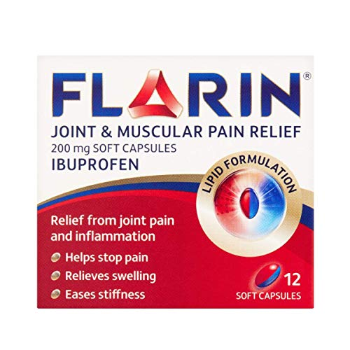 FLARIN Joint & Muscular Pain Relief 200 mg Soft Capsules