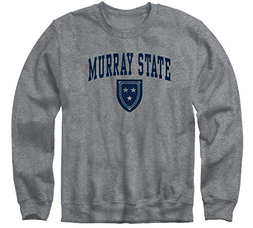 Ivysport Murray State University Racers - Sudadera con cuello redondo, color gris antracita, talla XL