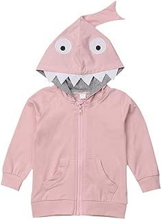 JELLYKIDS Kids Shark Shirts Toddler Baby Boy Girl Long Sleeve Pocket Shark Hoodie Jacket Top Autumn Winter Outfits