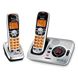Uniden DECT 6.0 Silver Cordless Digital Answering System with Caller ID and Two Handsets (DECT1580-2)