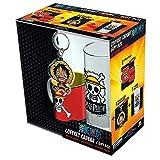 ABYstyle Assassination Classroom One Piece Gift Box Tazza con Portachiavi e Bicchiere Luffy per Adulti, ABYPCK088