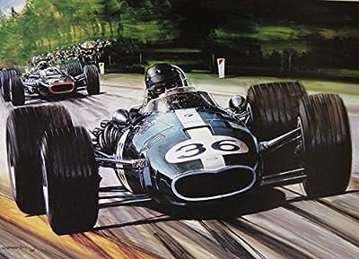 Gurney Eagle Formula One Racing Print Signed By Dan Gurney
