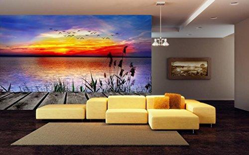 999Store Papel pintado indio impreso hermosa naturaleza texturizada murales de pared para sala de estar (cubre aproximadamente 135 pies cuadrados)