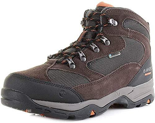 Hi-Tec Men's Storm Waterproof Hiking Boots, Brown Dark Chocolate Dark Taupe Burnt Orange 041, 8 UK