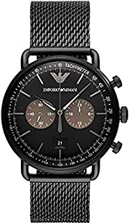 Emporio Armani Chronograph Black Stainless Steel Men's Watch - AR11142