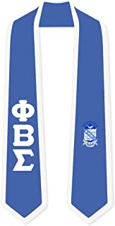 Phi Beta Sigma Greek 2 Tone Lettered Graduation Sash Stole