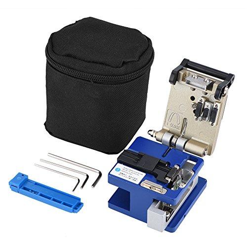 Hongzer Faser-Spalter-Werkzeug mit Tasche, hochpräzises Glasfaser-Draht-Spalter-Abisolierwerkzeug für Glasfaserkabel, Glasfaserprodukte, Werkzeugzubehör