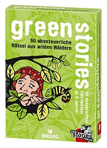 moses. black stories green stories | 50 abenteuerliche Rätsel | Das Rätsel Kartenspiel für Kinder