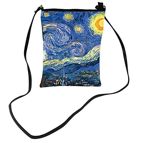 JIESMART SHOULDER BAG The Starry Night super light handbag Lightweight Purse Small Crossbody Bag Mini Cell Phone Pouch Shoulder Bag with removable Straps (The Starry Night)
