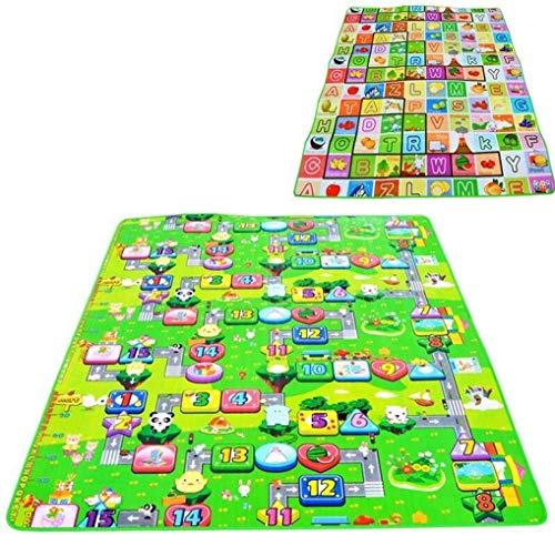 Voor Double Side spel van de baby Mat 0,5 cm Eva Foam Ontwikkelen Mat for Rug Carpet kinderen speelgoed Gym Game Crawling Gym Playmat Gift for kinderen baby's (Color : Green, Size : 200CM*180CM)