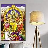 KWzEQ Imprimir en Lienzo Dios hindú Fotos Carteles y decoración del hogar para Sala de estar30x45cmPintura sin Marco
