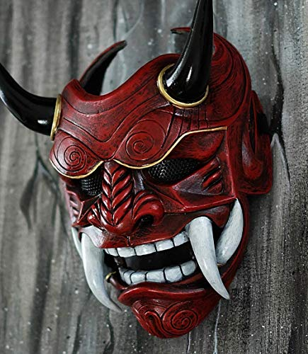 tripple_777 Samurai Assassin Demon Oni Airsoft Mask BB Gun Halloween Costume Ninja Warrior Evil Cosplay red DA01