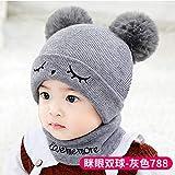 Xme Kinder Hut für Herbst und Winter, Wollmütze für Kinder, Mütze für Kinder