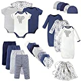 Touched by Nature Unisex Baby Organic Cotton Layette Set and Giftset, Elephant, 0-6 Months