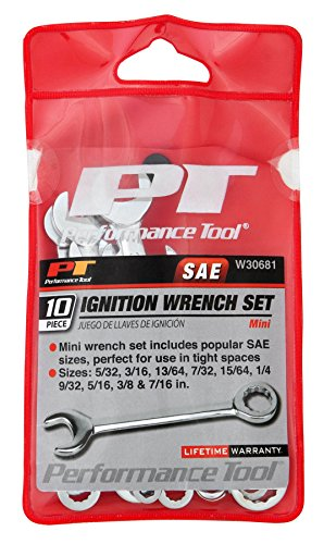 Performance Tool - 10pc SAE Ignition Wrench Set (W30681), Hand Tools - Pro Wrench Sets