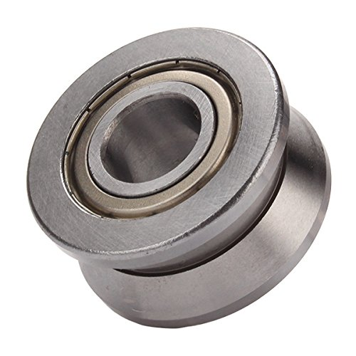 V Groove acier scellé Roulement à rouleau Guide Guide cylindrique 15 x 38 mm x 17 mm