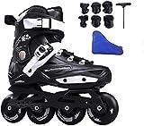 WENLI Rollers Quad Noir Professionnel Speed Inline Patins À roulettes Professionnelles Chaussures De Patinage À roulettes for Les Enfants Unisexe Femmes, Taille EU35-44