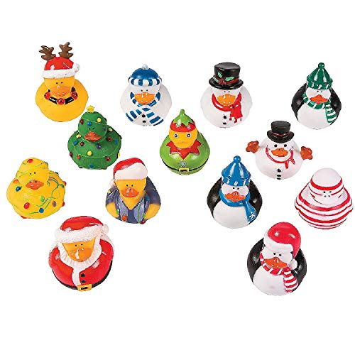 CHRISTMAS RUBBER DUCKY ASSORTMENT (50PC) - Toys - 50 Pieces