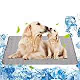Pet Cooling Mat for Dog Puppy Cat Washable Cooling Pad, Reusable Ice Silk Dog Self Cooling Mat, Pet Sleeping Pad Blanket for Pet Beds Kennels Couches Sofa Floors Car Seats (XL: 40×28in, 2021-Gray)