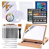 Juego de pintura acrílica, Ohuhu 78 piezas Juego de artista con 48 tubos de pintura acrílica, caja...