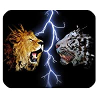 Yanteng Made Tiger VS Lion Personalized Rectangle Mouse Pad