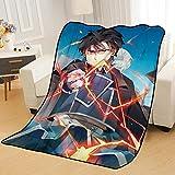 ZKPZYQ Decken Fullmetal Alchemist Roy Mustang Decke Warme weiche Decken Anime Mode Flanell Decke Camping Decken Picknickdecken 80x120cm