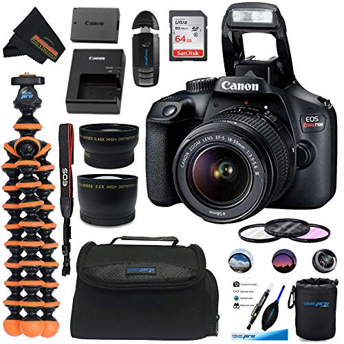 Why Should You Buy Canon EOS T100 DSLR Camera with 18-55mm III + 64GB SD Card + Sunshine Essentials ...