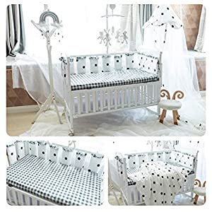 10PCS Boys Girls Crib Bedding Liner Protector Bed Cradle Safety Rail Guard Cover Vertical Crib Liners, Padded Bed Protection Sleep Pillow, Crib Rail Protector Cover, Nursery Decor