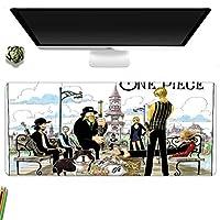 鼠标垫 大型 游戏桌垫 ONE PIECE 海贼王 可骑行 可爱 防水性 耐久性 防滑 多功能 超大尺寸 40厘米×90厘米-A_700x300MM